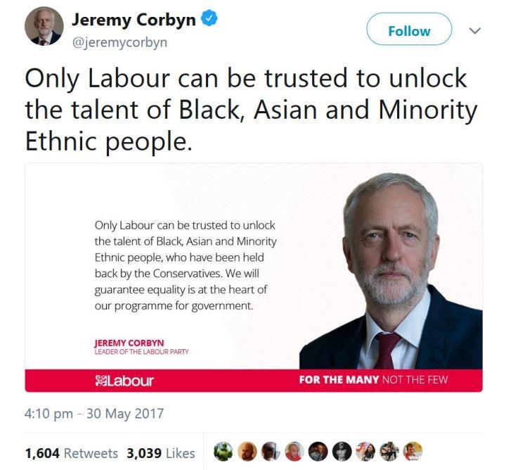 Corbyn unlocking BAME talent